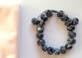 "Lola Rose ""Esher"" semi-precious Snowflake Obsidian bracelet."