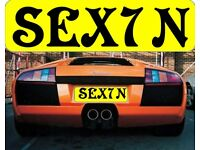 *** SEX 7N *** ( SEXTON SEXY N ) SEX SeveN Cherished Private Personalised Registration Number Plate