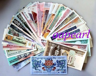Lots 30pcs World Banknotes 15 countries real paper money brand new Uncirculated