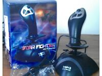 UNUSED PC GAMES and Logic 3 Star fighter GAMING Joystick