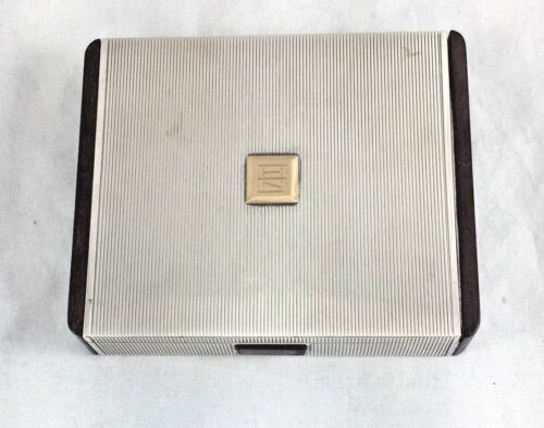 14Kt Gold & Sterling London England Cigarette Box