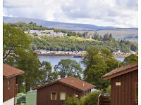 HOLIDAY FOR SALE !!! 8th-12th August in log cabin by loch DUNOON ferry included!
