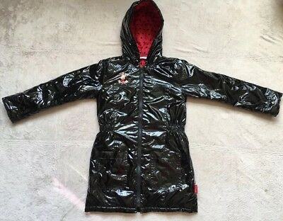 Disney Parks Paris Minnie Mouse Hooded Rain Coat Size 8a, Black & Red, Gorgeous!, used for sale  Los Angeles
