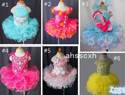 Hot Sale Toddler/Baby/Child/Kids Girl's Glitz Cupcake Pageant Dress 1--6T - Communion Dress Sale