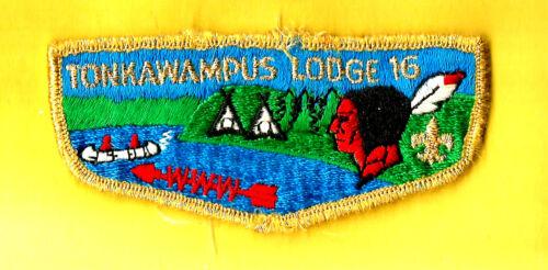 TONKAWAMPUS Lodge 16-S3b OA, Viking Council Boy Scout flap MN, used