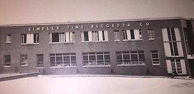 Vintage Framed Picture - Simplex Time Recorder Co. - Factory Offices