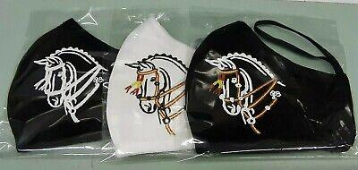 Mascarilla protección decorada con cabeza de caballo, básica. Una unidad.