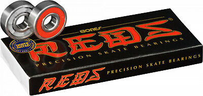 BONES REDS Skateboard Bearings 8-Pack 8mm Precision  608 factory sealed box
