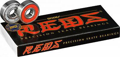 BONES REDS Skateboard Bearings 8-Pack 8mm Precision  608 factory sealed box