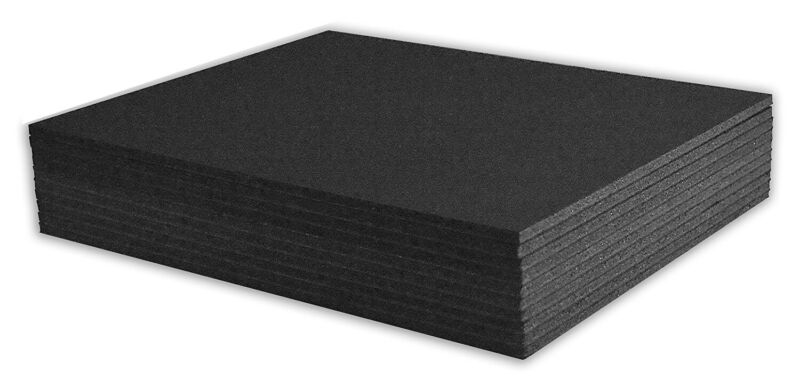 "Mat Board Center, Pack of 10 8x10 3/16"" BLACK Foam Core Backing Boards"
