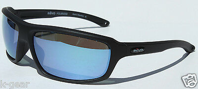 REVO Gust Sunglasses POLARIZED Black/Water Blue NEW RE4072X-11 Sport/Sail