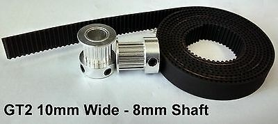 3D Printer GT2 10mm Wide Timing Belt and Pulleys - 20 Teeth 8mm Shaft - Reprap