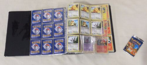 LOT OF OVER 260 POKEMON TRADING CARDS WITH CARD GUARD BINDER AND SLEEVES