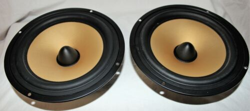 "8"" Woofer made with Kevlar, paper composite 3.4 Ohm European speaker qty2"
