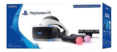 Sony PlayStation 4 PS4 VR Headset Motion Controller Camera Bundle CUH-ZVR2 JSV29