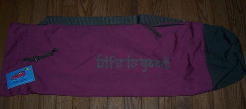 Life is Good Yoga Mat Bag with Strap PLUM/CHOCOLATE BROWN ~ NWT