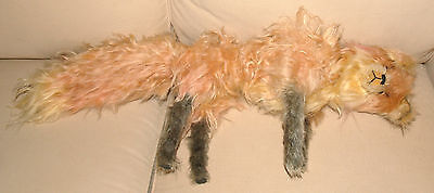 ANTIQUE VINTAGE RED FOX MOHAIR STUFFED ANIMAL PROBABLY STEIFF JOINTED ANIMAL