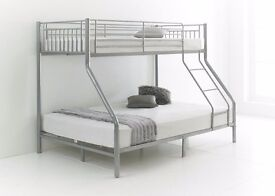 DOUBLE DECKER TRIPLE SLEEPER - TRIO SLEEPER METAL BUNK BED-STRONG AND CHEAP
