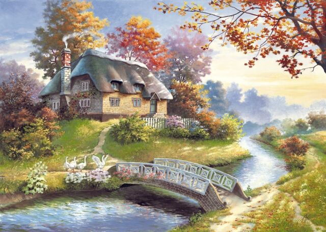 NEW! Castorland Cottage 1500 piece nostalgic country jigsaw puzzle