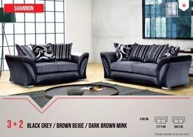 Shannon 3+2 Or Corner Sofas (Brand New)