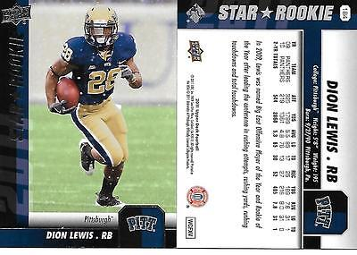 2011 Upper Deck    184  Dion Lewis    Rc    New England