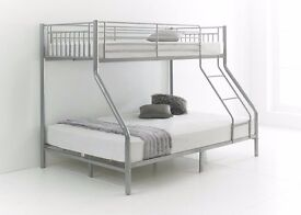 UNIQUE Design Trio Sleeper Metal Bunk OR TRIPLE SLEEPER BUNK BED Brand New