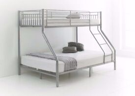 🔥🔥 LOWEST PRICES 🔥🔥Metal Trio Sleeper Metal Bunk Bed With Variety Of Mattress Same Day Delivery