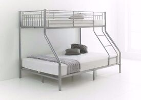 ** BRAND NEW ** MODERN & CLASSY DESIGN TRIO SLEEPER BUNK BED 100% STRONG WITH CHOICE OF MATTRESSES