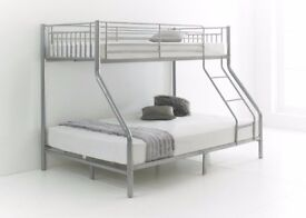 - BEST SELLING BRAND - BRAND NEW TRIO SLEEPER METAL BUNK BED SAME DAY EXPRESS DELIVERY