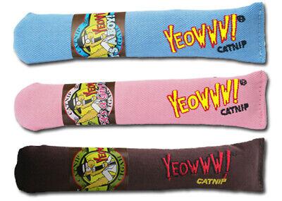 Duckyworld Yeowww! Organic Catnip Cigars 3 PACK :Brown, Pink, Blue -BEST CATNIP
