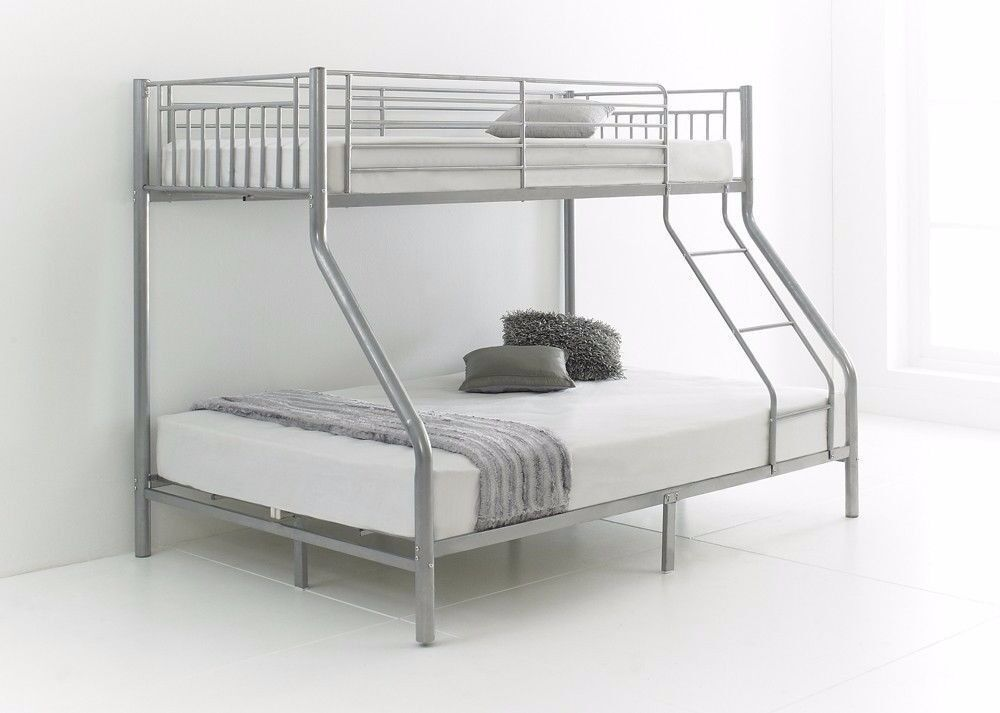 cheapest prices ever trio sleeper bunk bed frame with 2 x mattresses - Cheapest Bed Frame