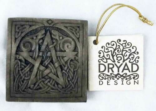 Small Pentacle Plaque - Stone Finish - Dryad Designs - Pagan Wiccan Pentagram