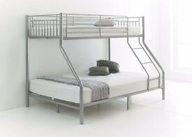 -- SUPERIOR QUALITY -- BRAND NEW TRIO SLEEPER METAL BUNK BED WITH MATTRESS OPTION-