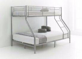 LIMITED OFFER ORDER NOW SINGLE TOP BOTOM DOUBLE METAL TRIO SLEPER FRAME BRAND NEW SAME DAY DELIVERY