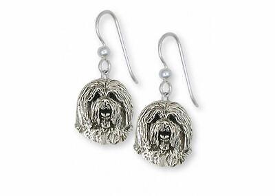 Old English Sheepdog Earrings Jewelry Sterling Silver Handmade Dog Earrings OESH Old English Sheepdog Earrings