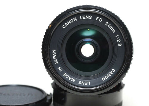 Canon FD 24mm f/2.8 manual focus wide angle lens