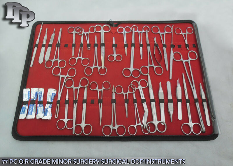77 PC O.R GRADE MINOR SURGERY SURGICAL INSTRUMENTS