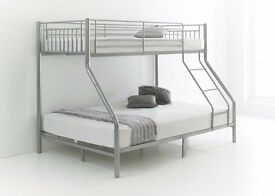 UPTO 50% OFF:: Brand New ! Trio Sleeper Metal Bunk Bed = AVAILABLE with Mattresses