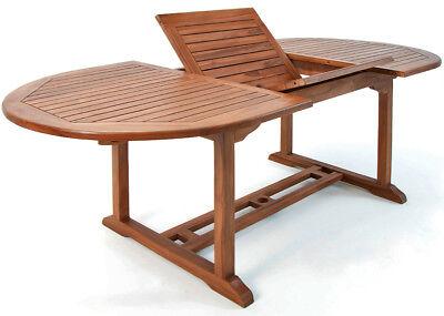 DEUBA® Gartentisch Vanamo 200x100cm Eukalyptusholz Garten Tisch Gartenmöbel Holz