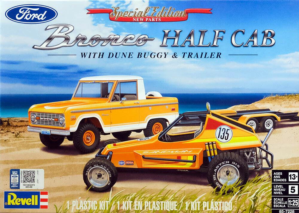 Ford Bronco Half Cab + Dune Buggy & Trialer Sandman 1:25 Model Kit Revell 7228