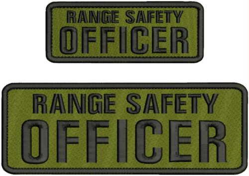 RANGE SAFETY OFFICER EMBROIDERY PATCH 3X8 & 2X5 HOOK ON BACK OD GREEN/BLK