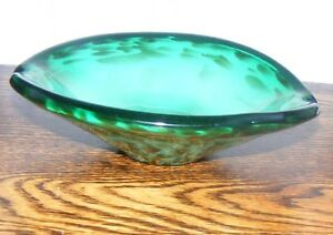 Vintage-Venetian-Glass-Floating-Gold-Ashtray