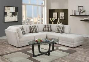 Store Wide Super Sale! BRAND NEW  SECTIONAL WITH REVERSIBLE CHAISE + THROW PILLOWS  Matching Ottoman available