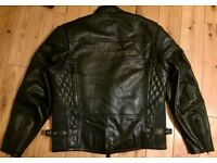 Harley Davidson Original Motorbike Gear Leather Biking Jacket, Kevlar Jeans, Biking Boots, HD Helmet