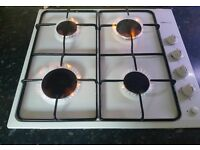 Proline white gas hob fully working order