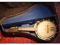 Vintage Banjo Mandolin with case