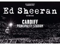4 x standing - Ed Sheeran Cardiff 21st June