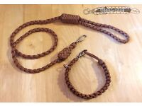 Paracord Dog Collar/Lead Leash Pet Products Handmade by Danbi *FREE UK Shipping*