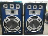 Skytec 800w heavy duty party speakers woofer RRP £175
