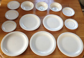 13 Piece White Dinner Plate Set *FREE DELIVERY* Bowl Saucer Crockery Dining Ceramic Tableware Home